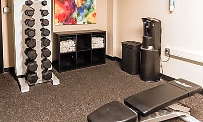 Fitness Weight Room, Cosmopolitan Apartments, 2
