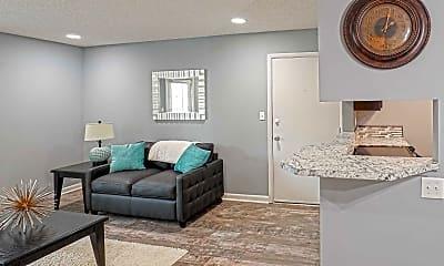 Living Room, Indian Hills Apartments, 1
