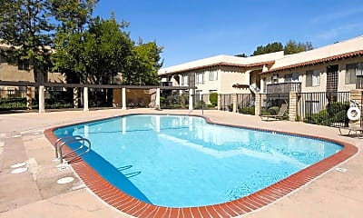 Pool, Charter Oaks Apartments, 0