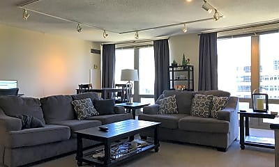 Living Room, 440 N Wabash Ave APT 4306, 0