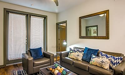 Living Room, Campus Vue Student Apartments, 1