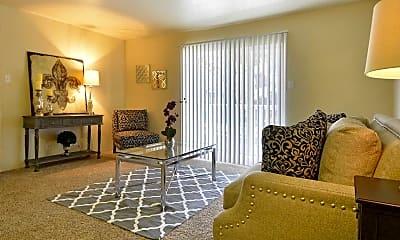 Living Room, Pebblebend Apartments, 1