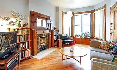 Living Room, 3143 S Wallace St 1FL, 1
