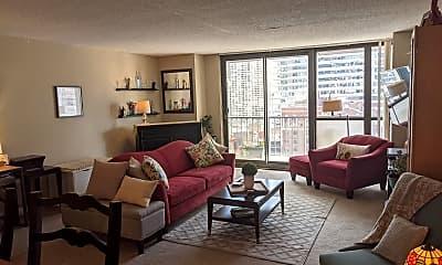 Living Room, 10 E Ontario St APT 1903, 0