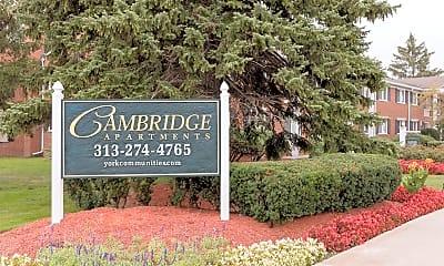 Community Signage, Cambridge Apartments, 2