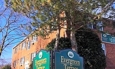 Community Signage, Evergreen Terrace Apartments, 1