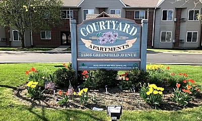 Community Signage, Courtyard Senior Apartments, 0