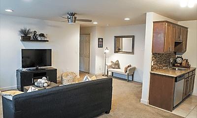 Living Room, Audubon Pointe Apartments, 1