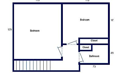 Bedroom, 760 Shady Dr E, 2