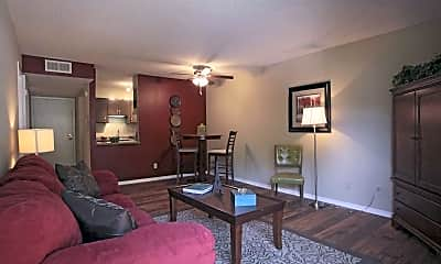Living Room, Greentree Apartments, 1