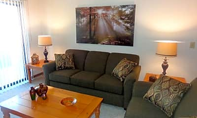 Living Room, Colonial Village Apartments, 1