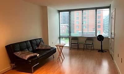 Living Room, 555 Massachusetts Ave NW 411, 1