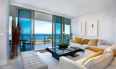 Living Room, 360 Ocean Dr 504S, 1