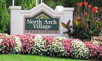 Community Signage, North Arch Village, 1