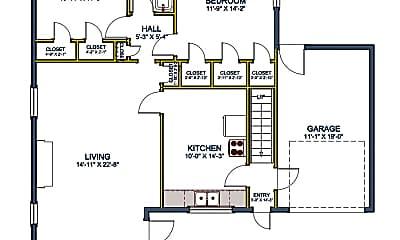 36 N Ash St Unit A floor plan SQ.png, 36 NE Ash Ave, Unit A, 1
