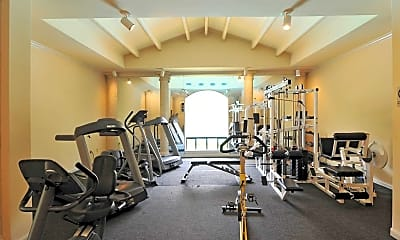 Fitness Weight Room, Tuscany Luxury Townhomes, 1