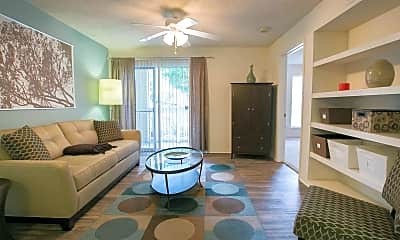 Living Room, The Residence At White River Apartments, 1