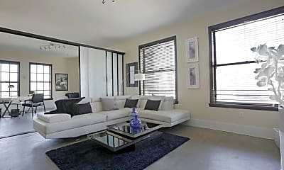 Living Room, National City Tower Lofts, 1