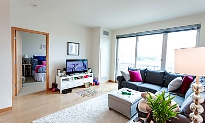 Living Room, Verge Apartments, 1