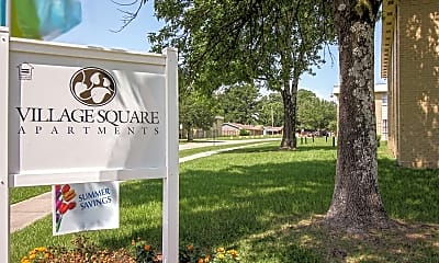 Community Signage, Village Square Apartments, 2