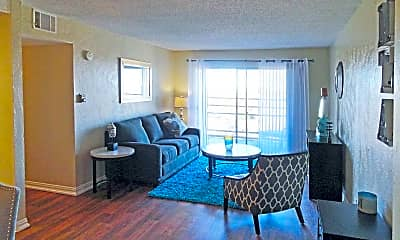 Living Room, Mid-Town Apartments, 2