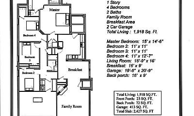 Bedroom, 3108 Silver Saddle Dr, 2