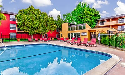 Pool, Carriage House Apartments, 1