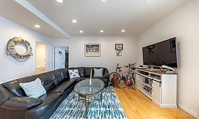 Living Room, 100 W Broadway 4Q, 1