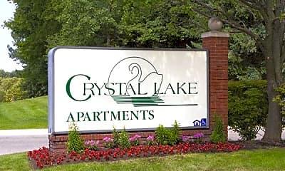 Community Signage, Crystal Lake Apartments, 1