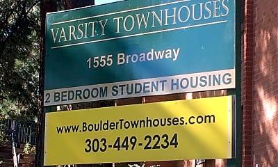 Varsity Townhouse, 1
