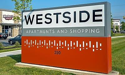 Community Signage, Westside Apartments & Shopping, 1