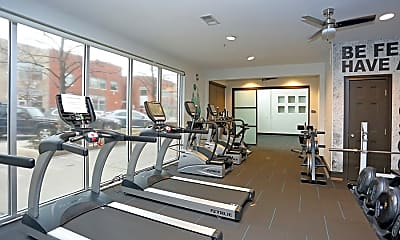 Fitness Weight Room, ArtWalk CityCenter, 2