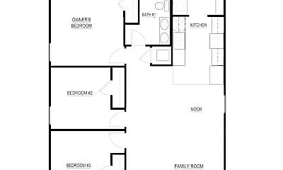Bedroom, 3518 York St, 2