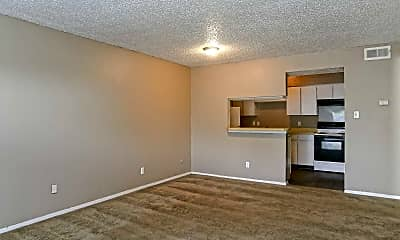 Living Room, Hillside Village Apartments, 1