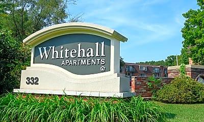 Community Signage, Whitehall Apartments, 2