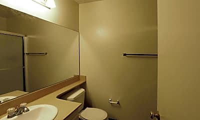 Bathroom, Charter Oaks Apartments, 2