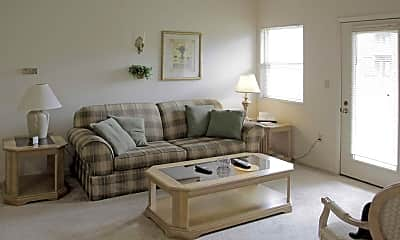 Living Room, Forest Oaks Apartments, 1