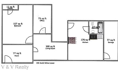 Bedroom, 106 N Willow St, 2