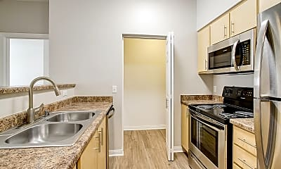 Kitchen, Woodland Apartments, 1