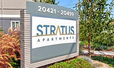 Community Signage, Stratus Apartments, 2