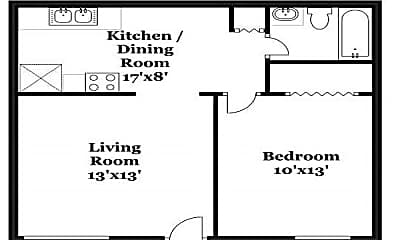 1 Bedroom.jpg, 1624 N Central Expy, 2