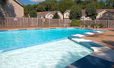 Pool, Woodland Trace Apartments, 1