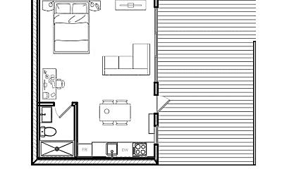 Living Room, 1520 Tyler Ave, 2