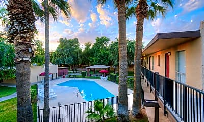 Pool, Excel Courtyard Apartments, 0