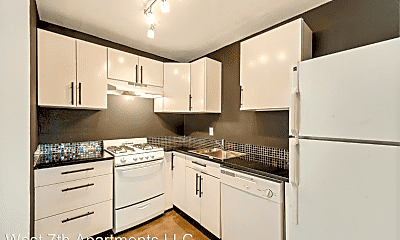 Kitchen, West 7th Apartments, 0