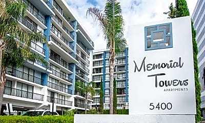 Community Signage, Memorial Towers, 1