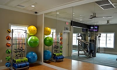 Fitness Weight Room, Belmont at Tryon Apartments, 2