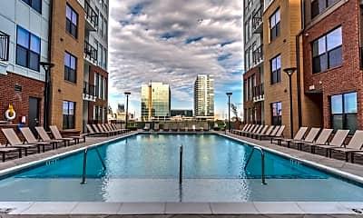 Pool, 1505 Demonbreun Apartments, 1
