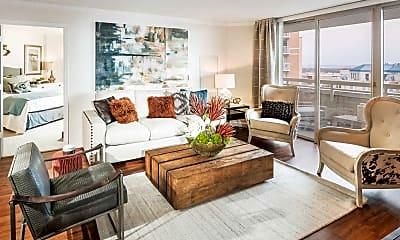 Living Room, Quincy Plaza, 0
