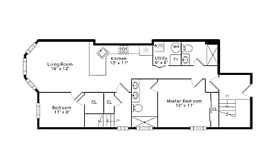 Bedroom, 1055 N Wolcott Ave, 1